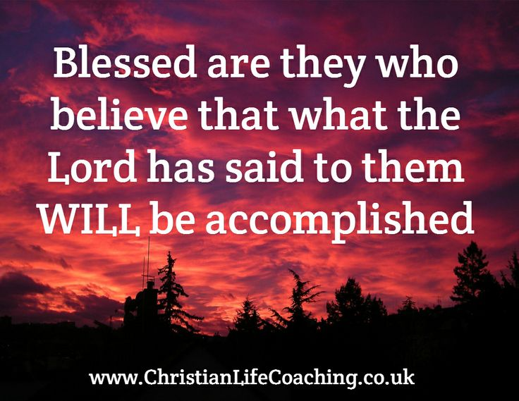 Blessed are they who...